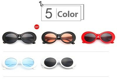 Fashion Unisex Oval Sunglasses Eyewear Rapper Clout Goggles All-match Glasses