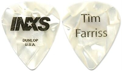 INXS Tim Farriss authentic 2005 tour custom stage gold foil on pearl Guitar Pick