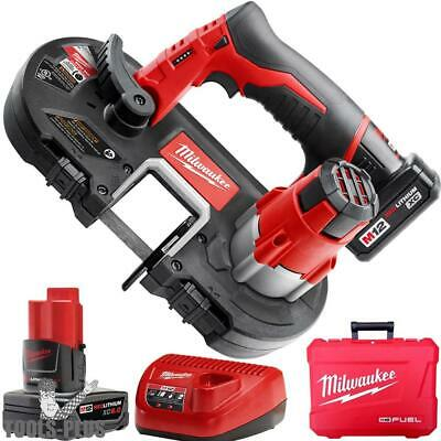 Milwaukee 2429-21XC 12V M12 Cordless Sub-Compact Band Saw 2 batt w/ 1x 6.0ah New