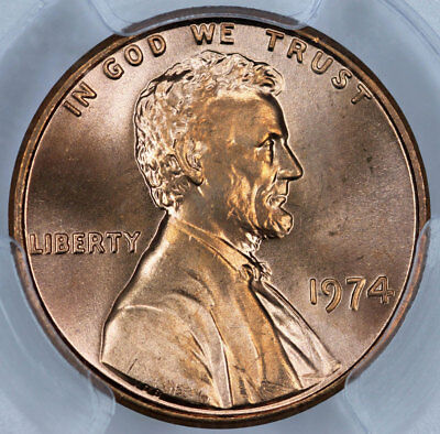 1974 PCGS MS64RD Lincoln Cent