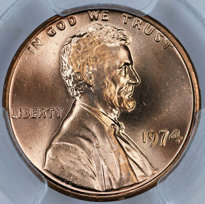 1974 PCGS MS65RD Lincoln Cent