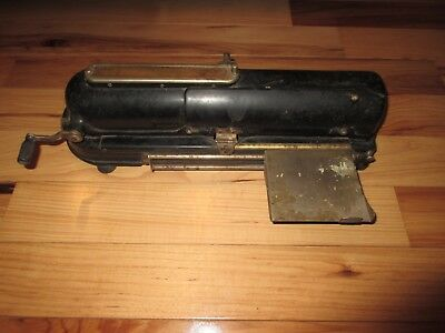 1916 Vintage G.W. Todd & Co. Protectograph Payroll Check Writer Printer Antique