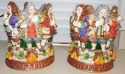 Fitz & Floyd 12 Days Of Christmas Twelve Pipers Piping Vase *new* Reduced