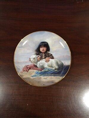 Danbury Mint~PERILLO Collector Plate~Children of the Prairie~Watchful Waiting.