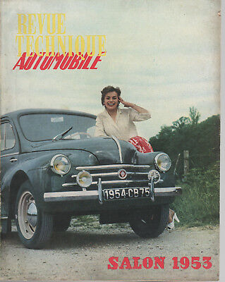 Revue Technique Automobile 90 Rta 1953 Salon De L'automobile 1953 (Modeles 1954)
