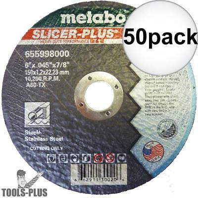 Metabo 55998 50pk SLICER-PLUS High Performance Cutting Wheel New
