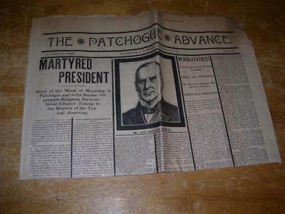 September 20 1901 The Patchogue Advance Death Of President McKinley newspaper