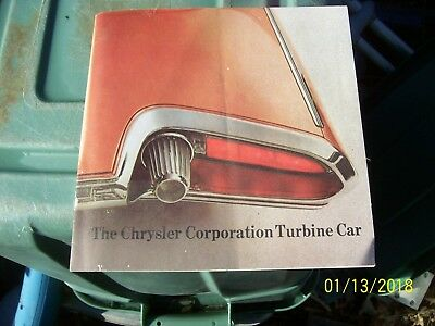 The Chrysler Corporation Turbine Car Brochure