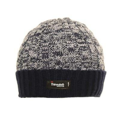 Mens Ladies Thermal Thinsulate Fleece Lined Beanie Ski Hat 3 Colours