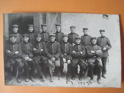 Original FOTO 1. WK Soldaten Gruppe 1917 (Oldenburger Regiment?) AK