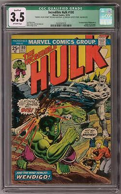 Incredible Hulk #180 CGC 3.5 (OW) 1st Wolverine (Cameo) Appearance