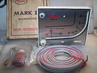 New Dwyer Mark Ii Model 25 Manometer Air Pressure Gauge