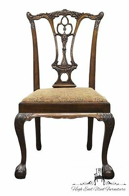 High End Solid Mahogany Chippendale Dining Side Chair Ball & Claw Foot