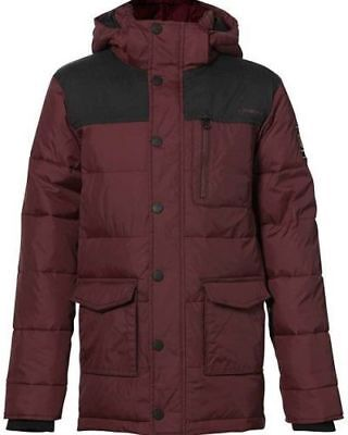 O'NEILL Boys Red Mahogany Water Resistant Hooded Stanley Jacket 13-14 Years BNWT