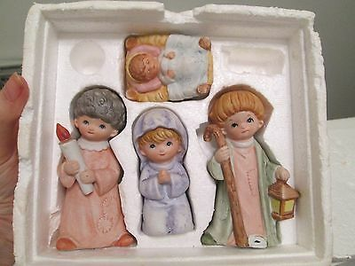 Homco Home Interior Christmas Nativity 4 Piece Set 5502 In Styrofoam Box