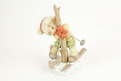 """Memories of Yesterday """"A Bit Tied Up Just Now..."""" Figurine 1993 Christmas Ski"""