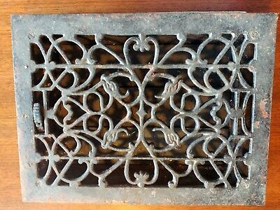 Vintage Iron Heat Grate - Bird/Vulture Motif for 10x14 vent (12x16x3 overall)