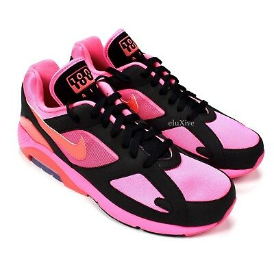 808ea7bfb38383 NWT Comme des Garcons Nike Air Max 180 CDG Black Pink Sneakers DS 2018  AUTHENTIC