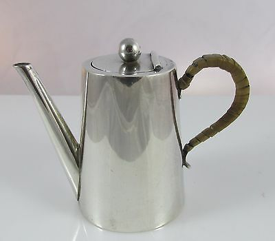 Antique 1895 William Hutton English Sterling Silver Miniature Chocolate Pot