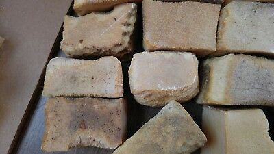 Lot of Vintage Lye Soap 12 Bars 4 Pounds Home Made All Natural Primitive