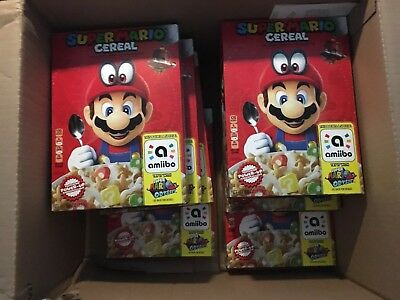 Super Mario Odyssey Cereal Limited Edition Nintendo Amiibo Ship Tomorrow!!