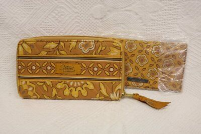 Longaberger Sisters Wallet & Checkbook Cover~Golden Fields