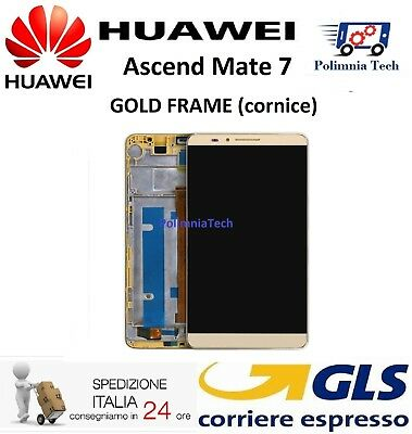 DISPLAY HUAWEI MATE 7 GOLD con FRAME (cornice)  LCD TOUCH COMPLETO  -  Sped 24h