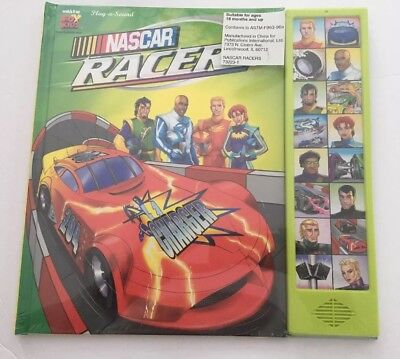 NIP NASCAR RACERS Play A Sound CHILDREN'S BOOK KIDS BOYS NEW