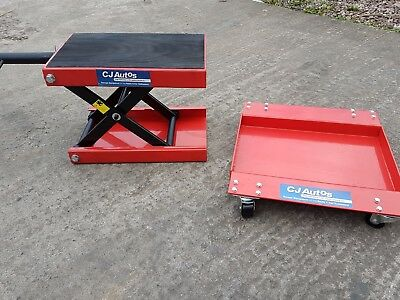 Motorbike Lift Not Hydraulic Bike Lift Cjautos Mb04A+ Mbo4Am Mover   In  Red
