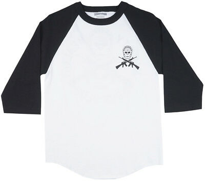 SSUR x Mighty Healthy Ssurilla Raglan Mens Shirt White/Black S-2XL Fashion Style