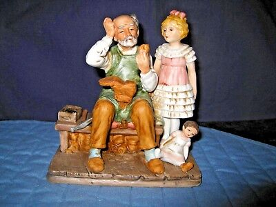 """Large Norman Rockwell """"the Cobbler""""  1979 Figurine Near Mint Condition No Box"""