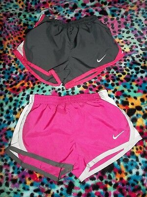 Very Cute Lot Of 2 Girls Nike Shorts Size 4T-Black & Pink
