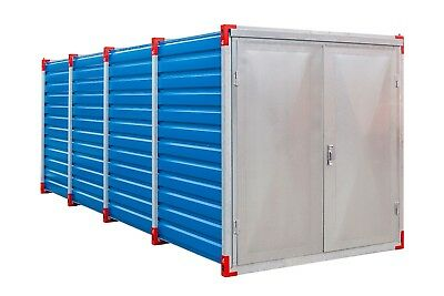 New Storage Container High Quality Galvanized Steel Flat pack & Double wing Door