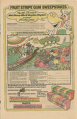 Fruit Stripe Gum with the Fruit Stripe Donkey Comic Book Ad, 1979