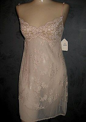Claire Pettibone Bridal Chemise Trousseau ANGELICA Blush Pink Lace XS NWT $155
