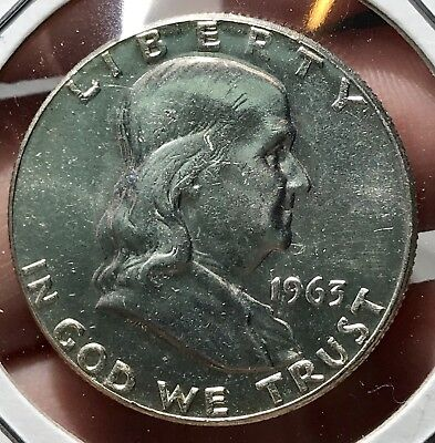 1963 Franklin Silver Half Dollar.*gem* Collector Coin For Your Collection Or Set