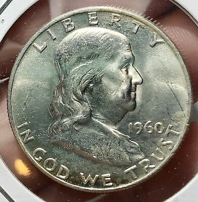 1960-D Franklin Silver Half Dollar *gem* Collector Coin For Your Collection