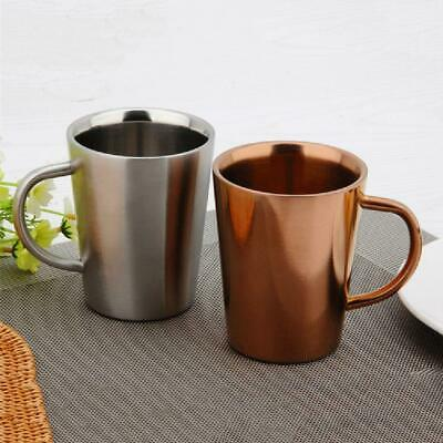 Double-layer Stainless Steel Thermal Drinking Cup Insulated Coffee Mug 350ml AU
