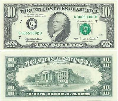 1995 Ten Dollar $10 Federal Reserve Note FRN Chicago Illinois - F#2032G