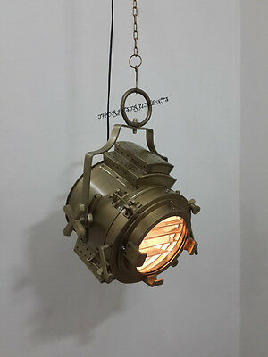 Industrial Vintage Antique Brown Ceiling Pendant/ Hanging Light Nautical Lamp
