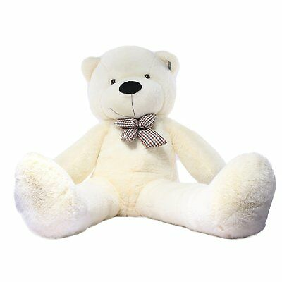 "Joyfay Giant Teddy Bear CE 63"" 160cm White Large Stuffed Plush Toy Valentine"