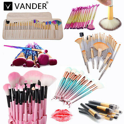 10Pcs Professional Makeup Brushes Set Oval Cream Puff Toothbrush Kabuki Brush