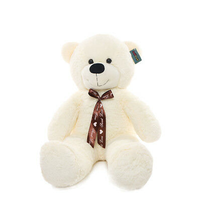 "Joyfay® Teddy Bear CE 39"" 100cm White Large Giant Big Plush Toy Valentine Gift"