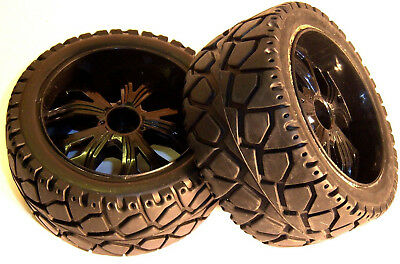 BS937-002 1/10 Scale RC Buggy Street On Road Wheel and Tyre 2 Rear Black