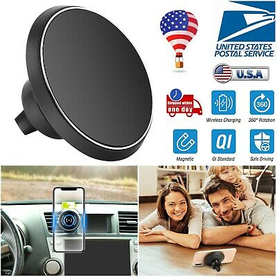 Qi Wireless Car Charger Charging Magnetic Mount Holder For iPhone X 8 7 6/Plus