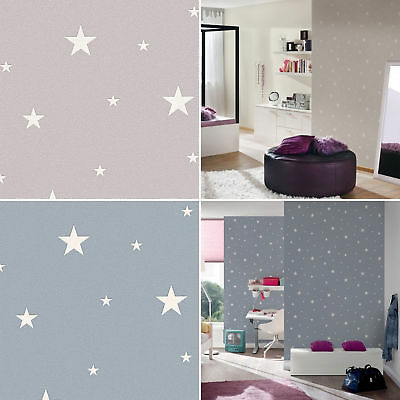 Glow In The Dark Stars Planets Cosmic Wallpaper Textured 2 Colours