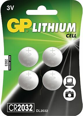 GP Lithium Button Cell Battery CR2032 3V - Pack of 8