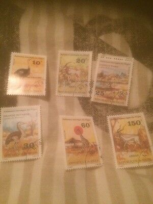 Niger 1981 Animals Complete Set Of 6 Stamps