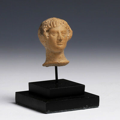 Hellenistic Greek Terracotta Head of a Lady