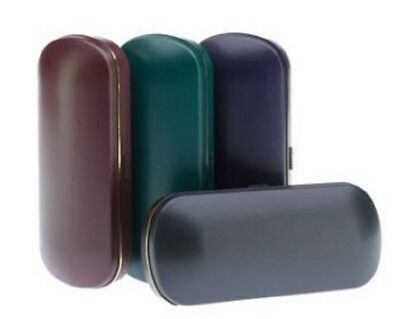 Push Button Opening Hard Glasses Case Plush Lining Great for Handbags